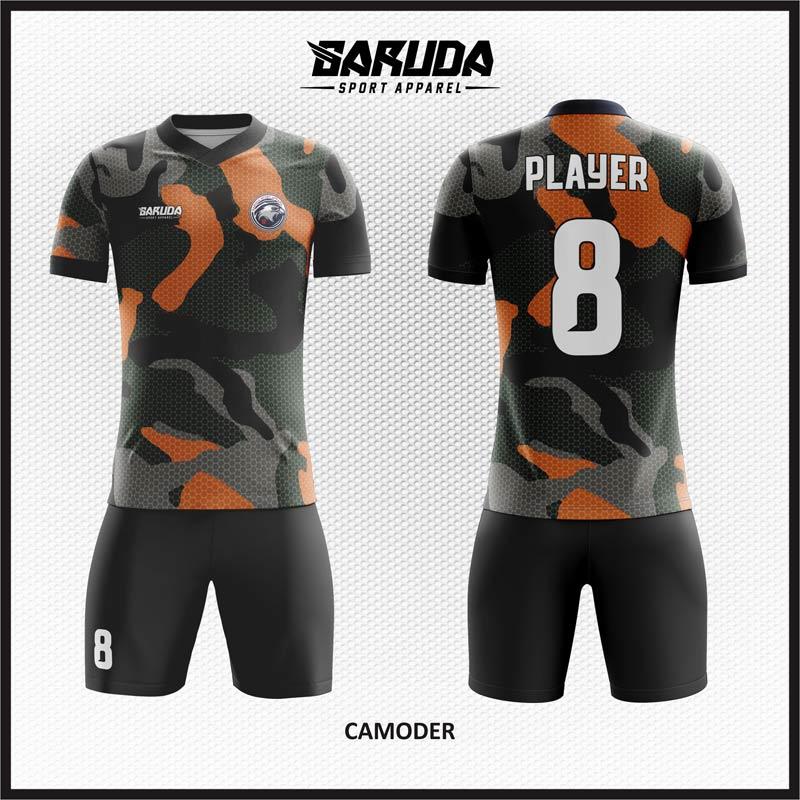 Desain Kostum Baju Futsal Motif Loreng Paling Keren