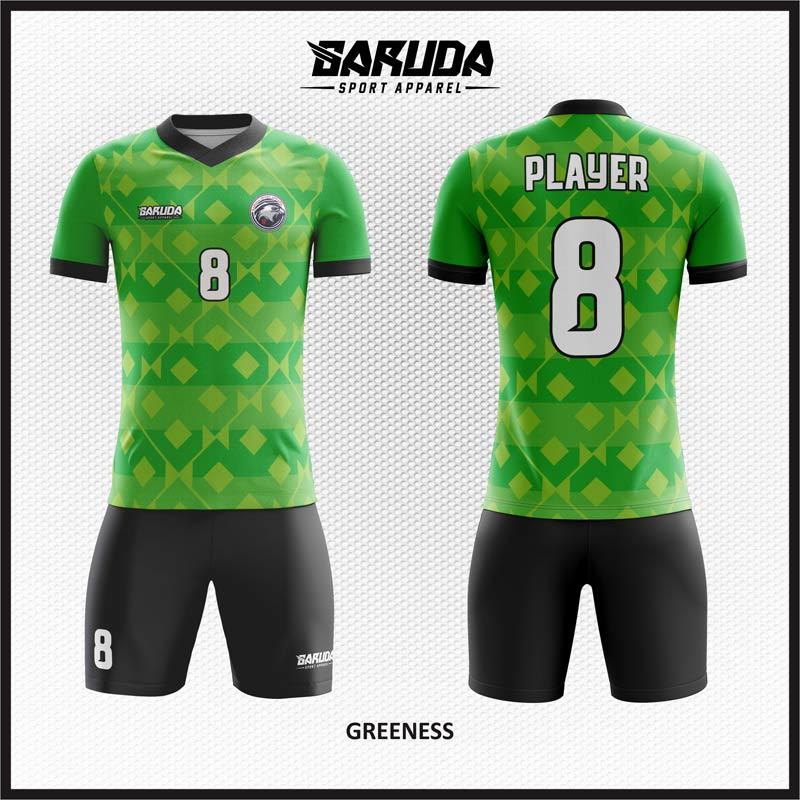 Desain Kostum Futsal Warna Hijau Yang Keren Memikat Hati