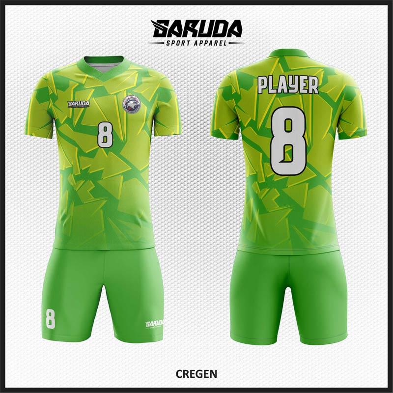 Desain Baju Bola Futsal Warna Hijau Muda Tampil Lebih Trendy