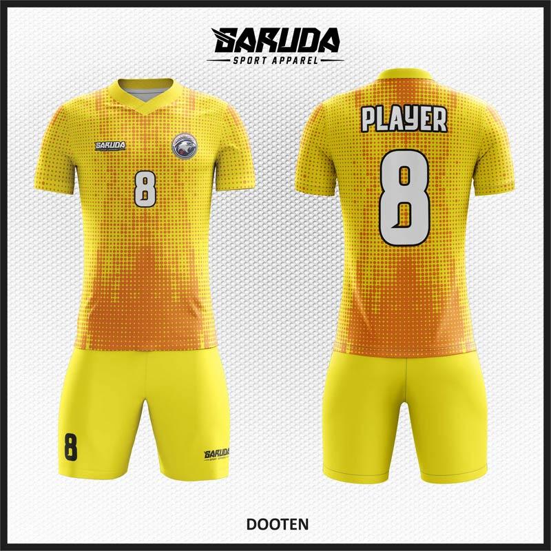 Desain Jersey Futsal Paling Keren Warna Kuning Orange