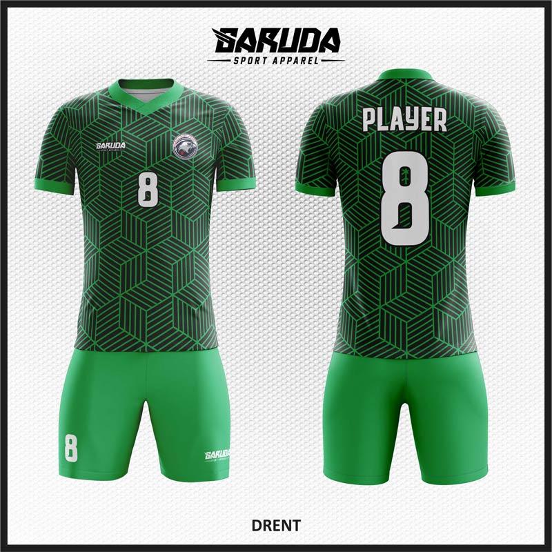 Desain Jersey Sepak Bola Warna Hijau Tampil Lebih Fresh
