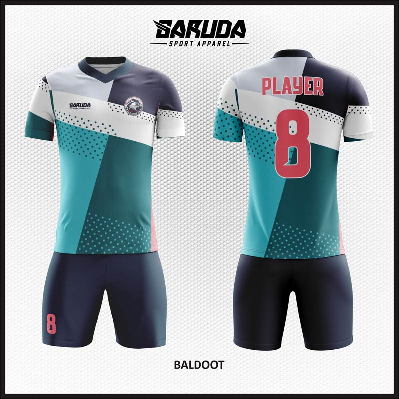 Desain Jersey Sepak Bola Full Printing Motif Zigzag Terbaru