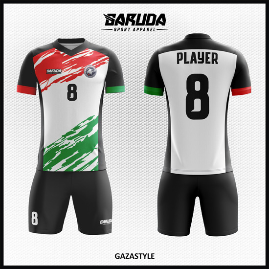 Desain Jersey Futsal Full Print Motif Gaza Lambang Solidaritas
