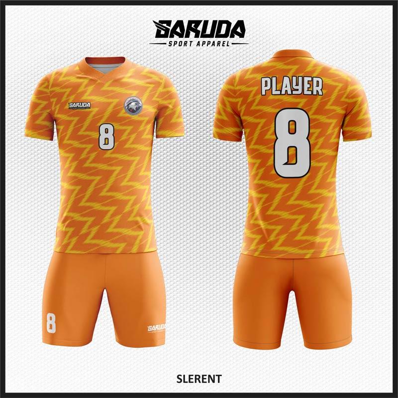 Desain Kaos Sepakbola Warna Orange Yang Energik