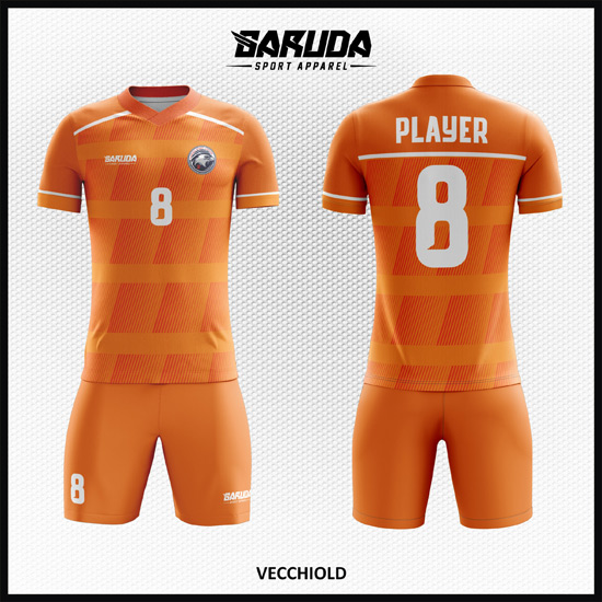 Desain Kaos Futsal Printing Warna Orange Yang Macho