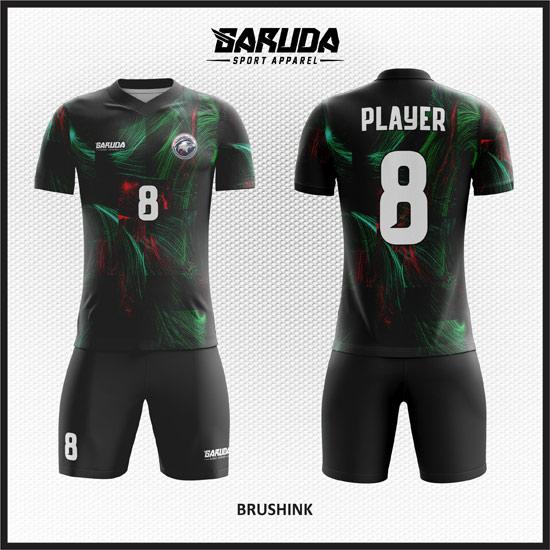 desain kostum futsal printing warna hitam