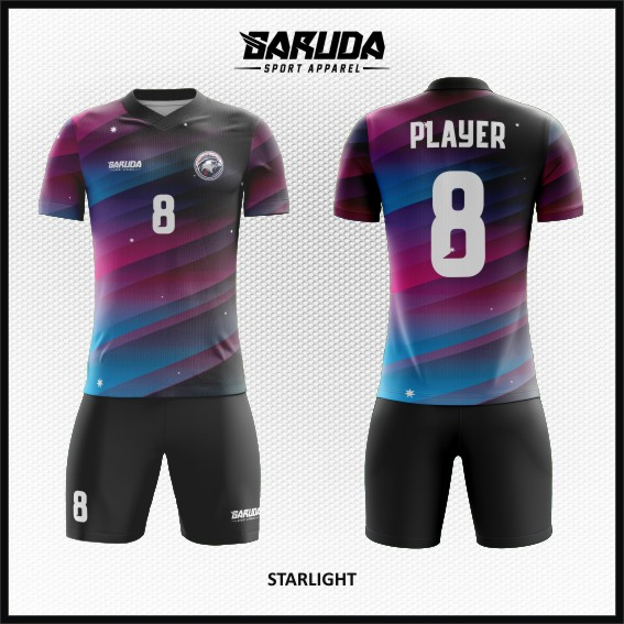 Desain Jersey Sepakbola Printing Motif Gradasi Warna Paling Keren