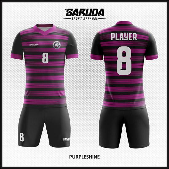Desain Jersey Sepakbola Printing Warna Ungu Hitam Paling Keren