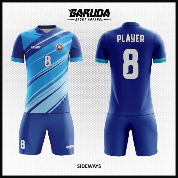 Desain Baju Bola Futsal Warna Biru Tampil Elegan