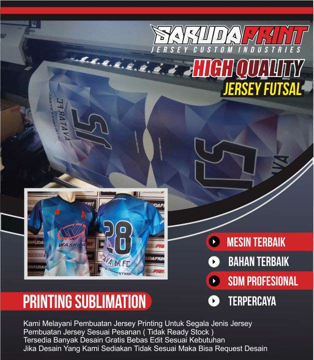 bikin baju futsal printing