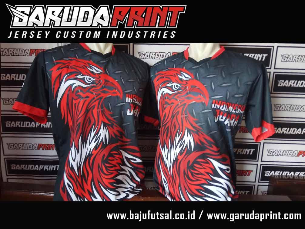 Pembuatan Baju Futsal Dengan Gambar Hewan burung garuda