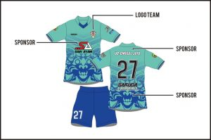 Memasang Sponsor Pada Pembuatan Baju Futsal