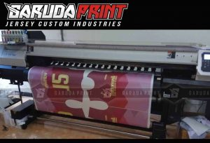 Pembuatan baju futsal full printing