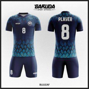 Desain Baju Sepakbola Printing Warna Biru Jiwa Pemberani