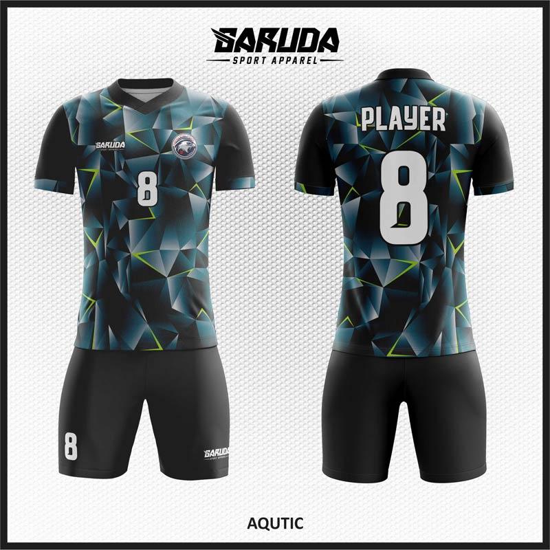 Desain Jersey Baju Futsal Motif Abstrak Tampilan Elegan