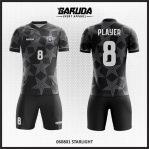 Desain Baju Futsal Warna Hitam Motif Bintang Yang Menawan