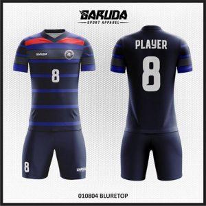 Desain Kaos Sepakbola Warna Hitam Biru Tampil Lebih Gagah