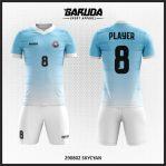 Desain Seragam Sepakbola Printing Warna Biru Langit Yang Cool