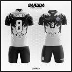 Desain Kaos Futsal Warna Hitam Abu Abu Gagah Menawan