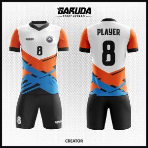 Desain Kaos Sepak Bola Full Print Gradasi Warna Unik