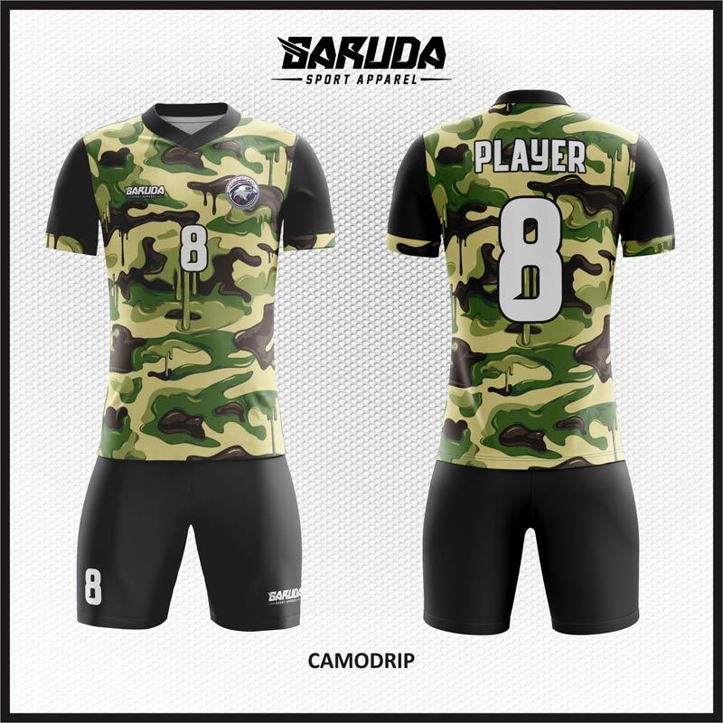 Desain Kaos Bola Futsal Motif Doreng Army Yang Gagah