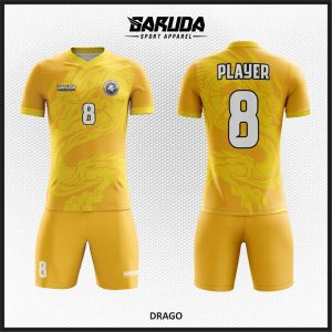 Desain Kaos Futsal Full Print Warna Orange Kuning Yang Energik