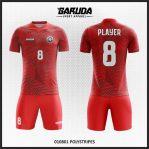 Desain Seragam Futsal Warna Merah Yang Gagah Dan Macho