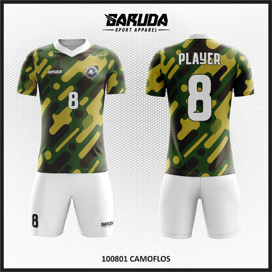Desain Jersey Bola Printing Motif Army Doreng Yang Elegan