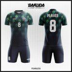 Desain Baju Futsal Printing Motif Bulu Merak Yang Anggun