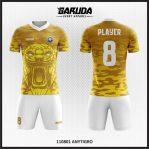 Desain Baju Bola Full Print Motif Loreng Harimau Yang Gagah