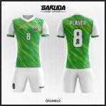 Desain Baju Bola Printing Warna Hijau Putih Keren Banget