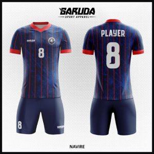 Desain Kostum Futsal Printing Warna Biru Dongker Yang Menawan