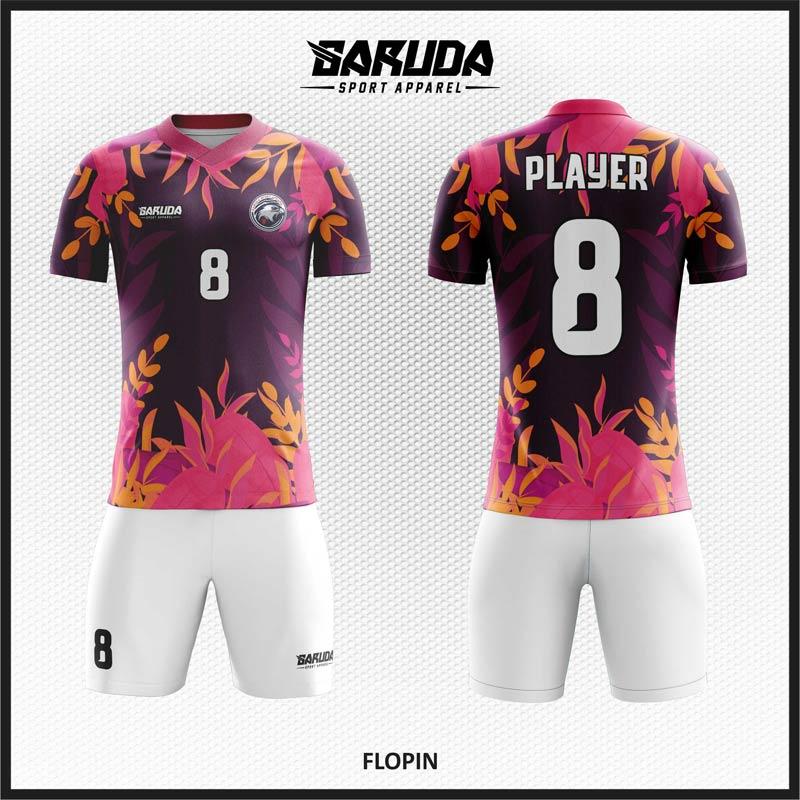 Desain Baju Futsal Warna Ungu Tebar Pesonamu