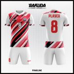 Desain Jersey Futsal Full Print Warna Pink Putih Yang Cool Banget