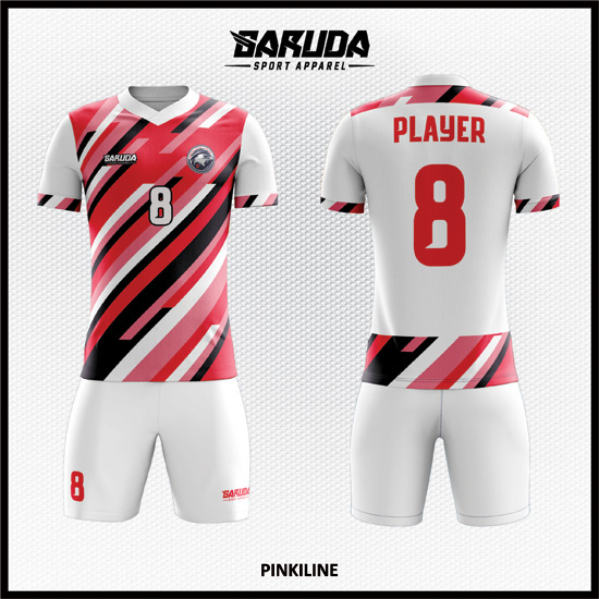 Desain Jersey Futsal Full Prink Warna Pink Putih Yang Cool Banget