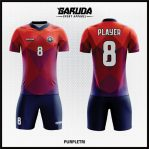 Desain Kaos Futsal Printing Warna Orange Ungu Tampil Lebih Keren