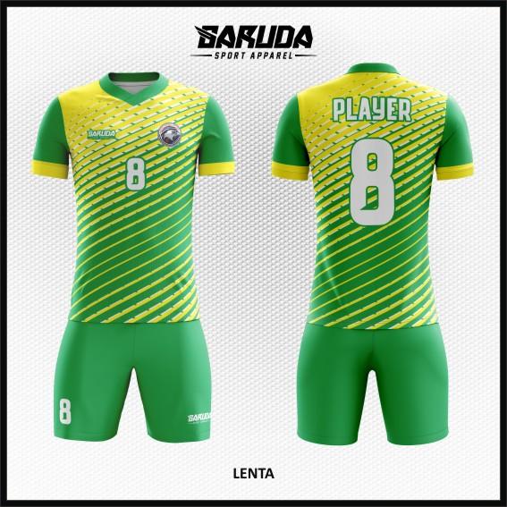 Desain Jersey Futsal Printing Warna Hijau Kuning Paling Oke