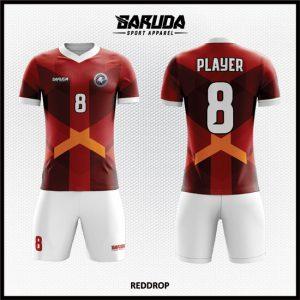Desain Jersey Sepakbola Warna Merah Putih Yang Stylish Dan Modern