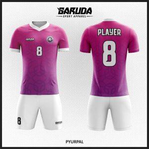 Desain Seragam Futsal Printing Warna Ungu Putih Yang Elegan