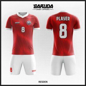 Desain Kostum Futsal Merah Putih Pilihan Warna Yang Dinamis