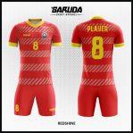 Desain Jersey Sepakbola Printing Warna Merah Yang Sangat Menawan