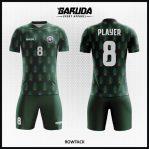 Desain Jersey Sepak Bola Printing Warna Hijau Amry Yang Elegan