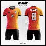 Desain Kaos Sepakbola Printing Warna Orange Yang Trendy