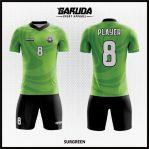 Desain Jersey Futsal Full Print Warna Hijau Untuk Tampil Lebih Cool