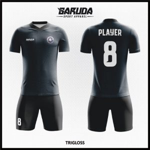 Desain Jersey Sepakbola Printing Warna Hitam Yang Gagah