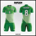 Desain Kostum Sepakbola Printing Warna Hijau Tampil Lebih Fresh