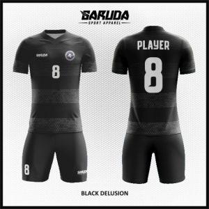 Desain Kaos Bola Futsal Printing Warna Hitam Keren