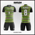 Desain Seragam Sepakbola Printing Warna Hijau Hitam Tampil Beda