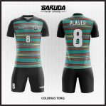 Desain Jersey Sepak Bola Printing Motif Garis-Garis Minimalis