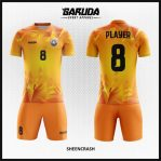 Desain Baju Futsal Printing Warna Orange Tampil Maksimal